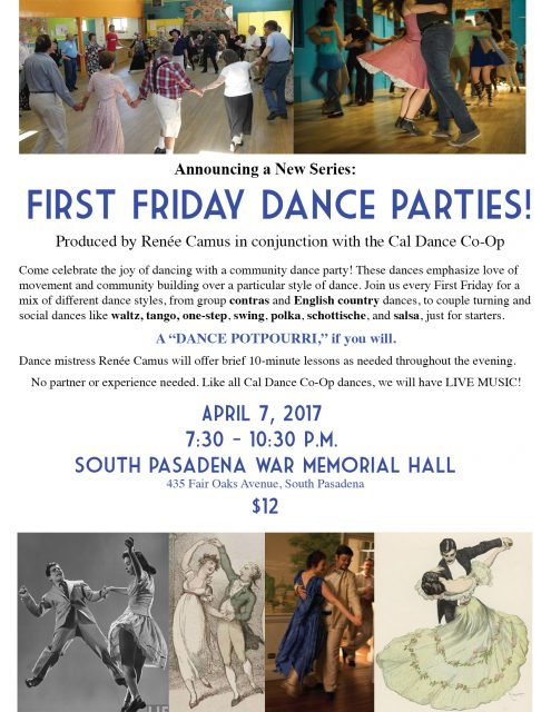 First Friday Dance Series - Flyer