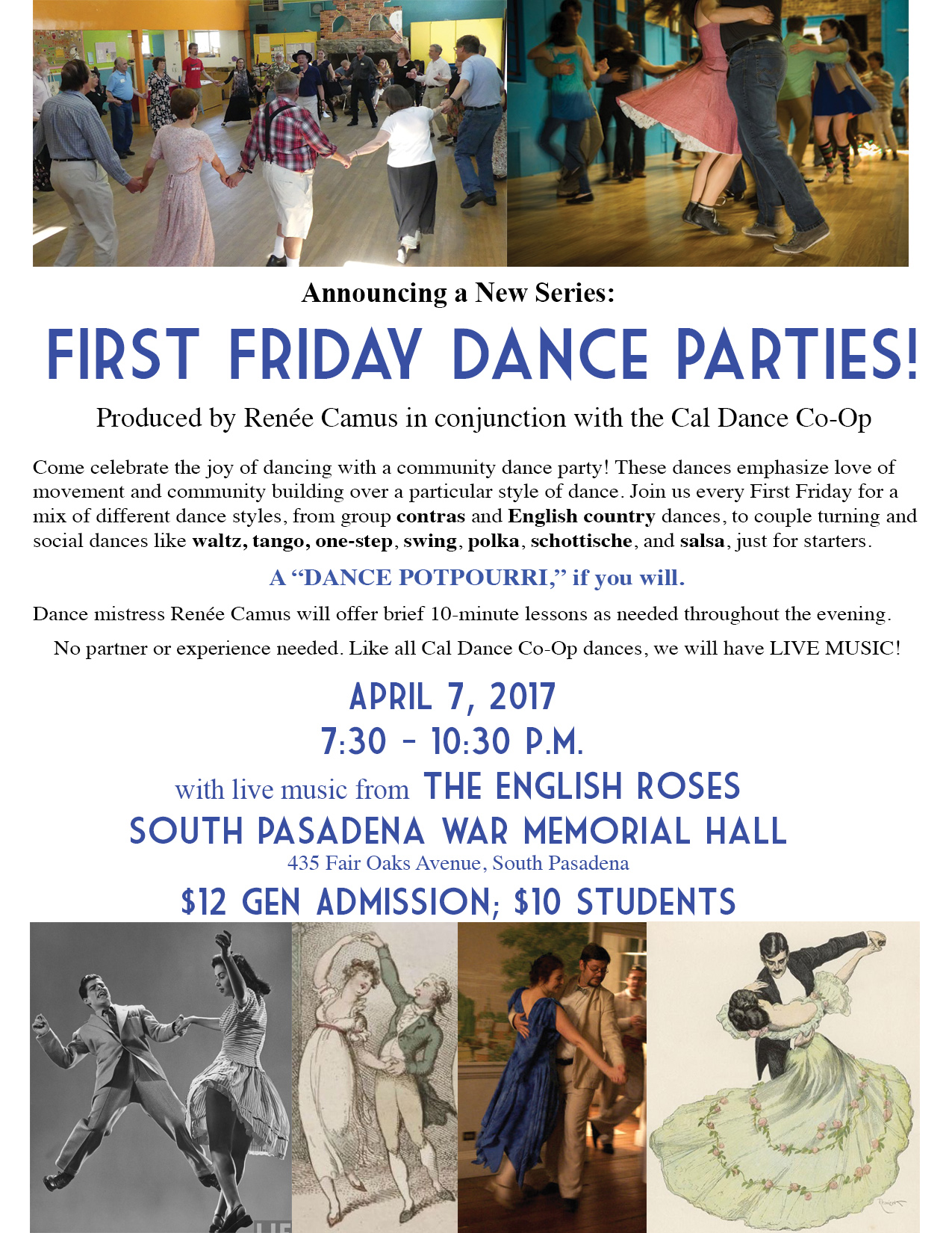 First Friday Dance Parties Flyer