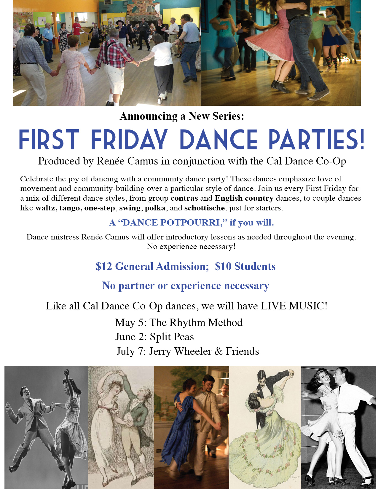 First Friday Dance Parties General Flyer