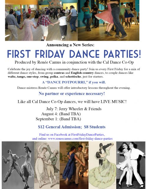 First Friday Dance Flyer - July, August, September