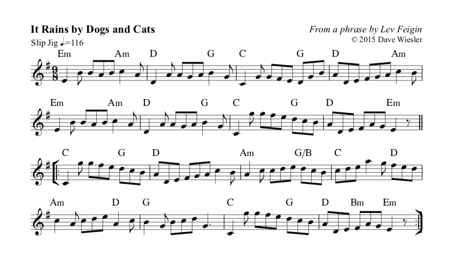 Inklings Romp music (It Rains by Dogs and Cats)