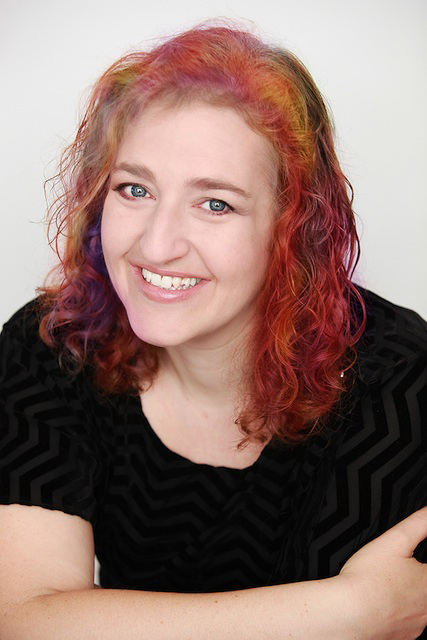 Renée Camus, Freelance Arts & Entertainment Writer (colored hair)